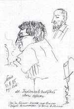 Лена Зайдель. Портрет М.Генделева. Уголь на картоне.(50 Х 35 см) 1998