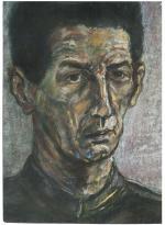 Лена Зайдель. Портрет М. Генделева. Сухая пастель на бумаге. (50 Х 35 см) 1997