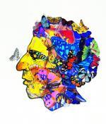 Лена Зайдель. Портрет М.Генделева . (Коллаж для обложки.) (50 Х 35 см) 1998